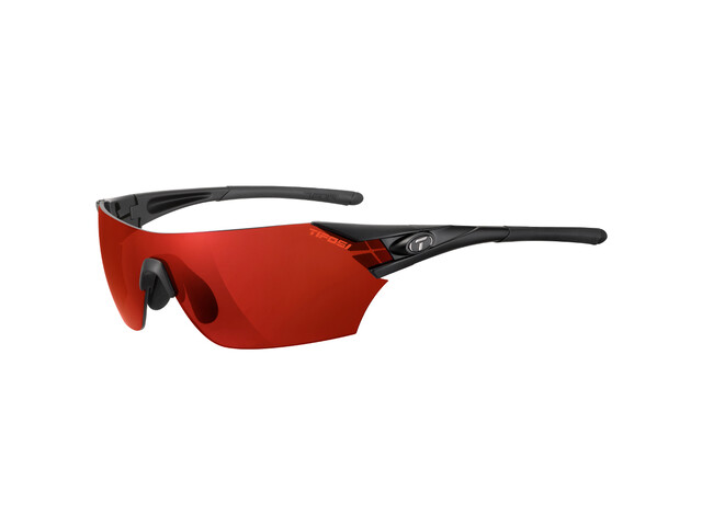 Tifosi Podium Glasses matte black - clarion red/AC red/clear